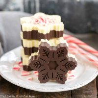 Peppermint Bark Snowflakes | A fabulous, impressive holiday or hostess gift!