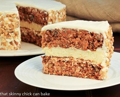 Skinny Carrot Cake Cheesecake