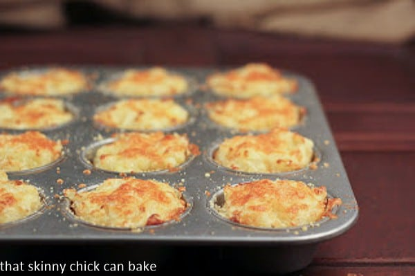 Cheesy Potato Cups | That Skinny Chick Can Bake