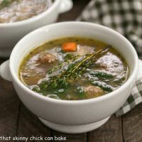 Italian Wedding Soup | That Skinny Chick Can Bake