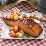 Maple Glazed Salmon with Mango Pineapple Salsa