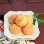 French Cheese puffs on a white plate