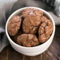 Chocolate Brownie Cookies with Mini Chocolate Chips