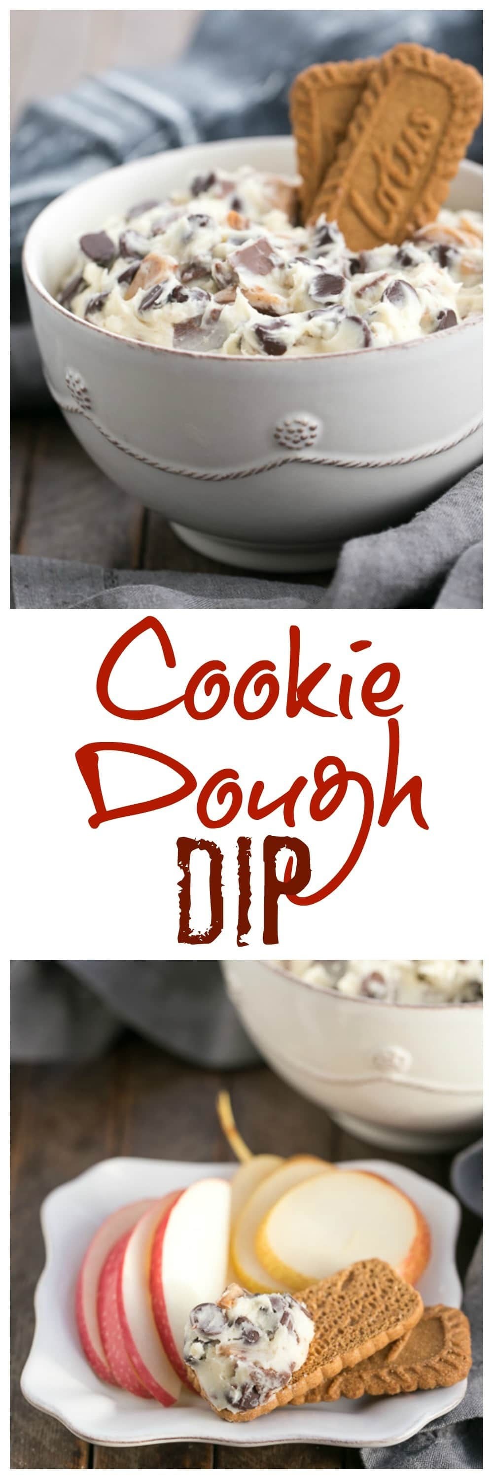 Cookie Dough Dip | A dreamy dip filled with chocolate chips and toffee pieces!