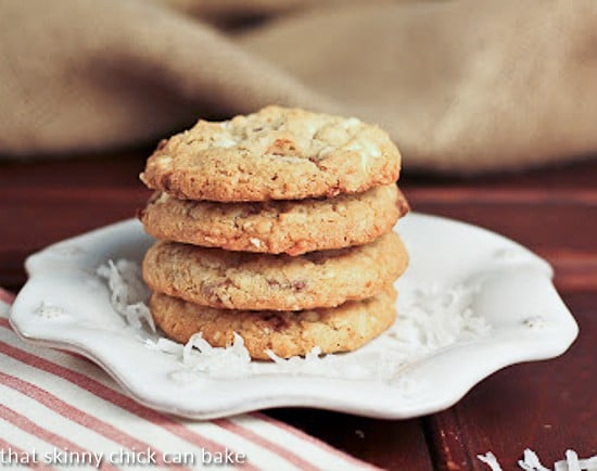 Toffee and White Chocolate Chunk Cookies 2