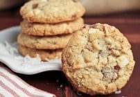 Toffee and White Chocolate Chunk Cookies #SecretRecipeClub