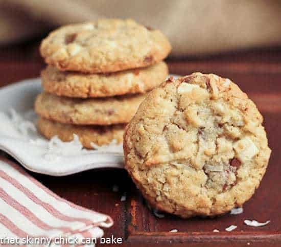 Toffee and White Chocolate Chunk Cookies