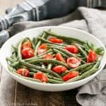 Haricots Verts with Grape Tomatoes