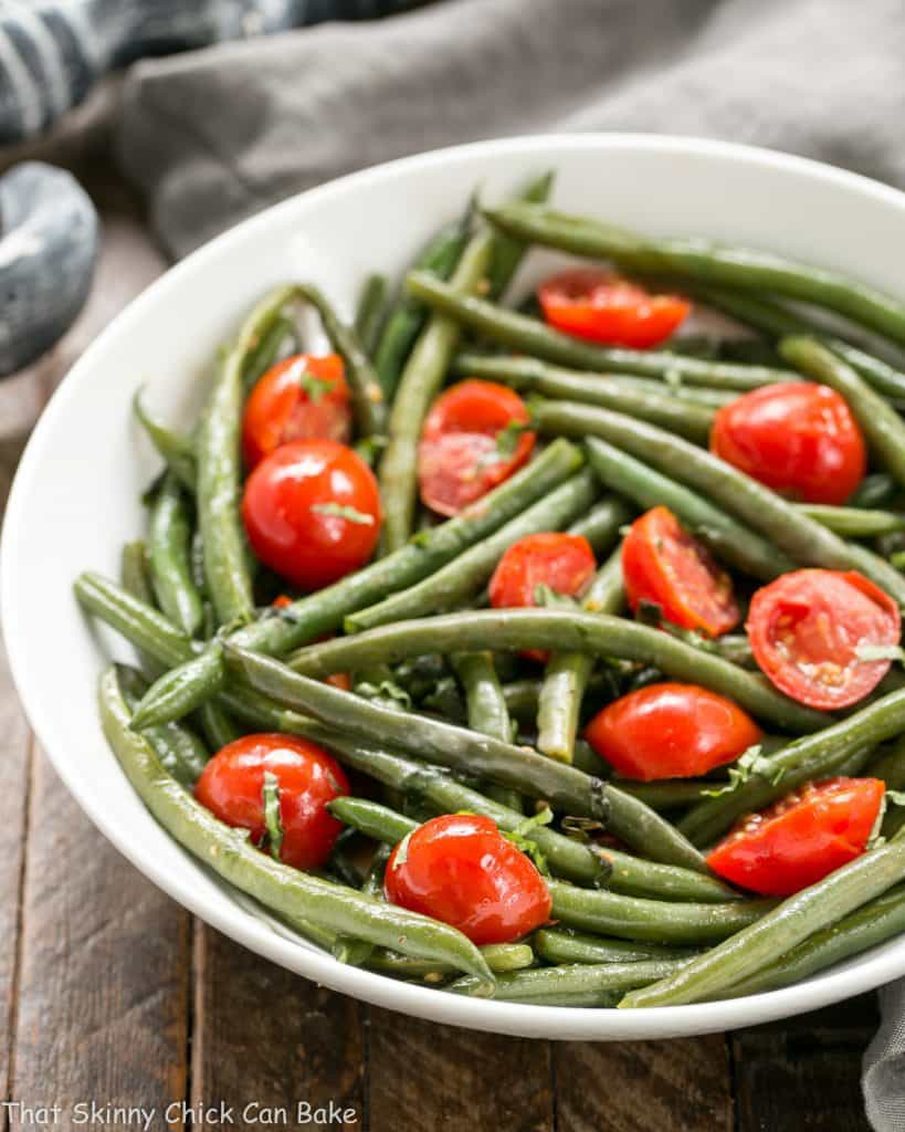 Haricot Verts with Grape Tomatoes   An easy, delicious green bean recipe!