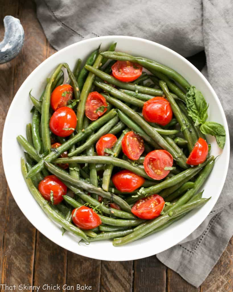 Haricot Verts with Grape Tomatoes | An easy, delicious green bean recipe!