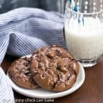 Flourless Chocolate Cookies | Dark, dense and chewy!!