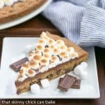 S'mores Cookie Cake | A tasty riff on the classic campfire treat!