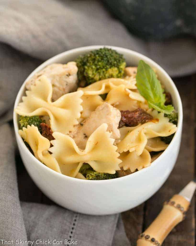 Chicken with Broccoli, Sun-dried Tomatoes and Bow Tie Pasta | An easy, flavorful weeknight meal!