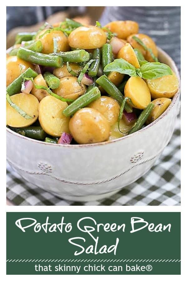 Potato Green Bean Salad with Dijon Vinaigrett Pinterest collage