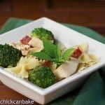 Chicken with Broccoli, Sun-dried Tomatoes and Bow Tie Pasta #SundaySupper