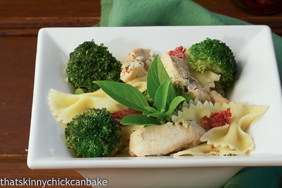 Chicken with Broccoli, Sun-dried Tomatoes and Bow Tie Pasta