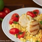 Warm Scallop Salad with Corn, Nectarines and Basil #FrenchFridayswithDorie