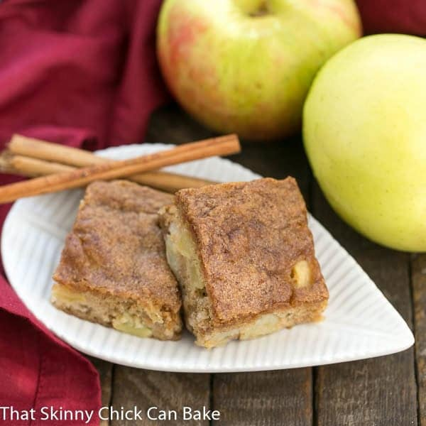 Apple Brownies | Chock full of fruit chunks and spiced with cinnamon