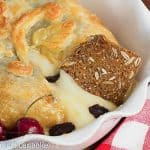 Brie en Croute with Cherries and Apricot Preserves