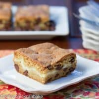 Cheesecake Filled Chocolate Chip Bars