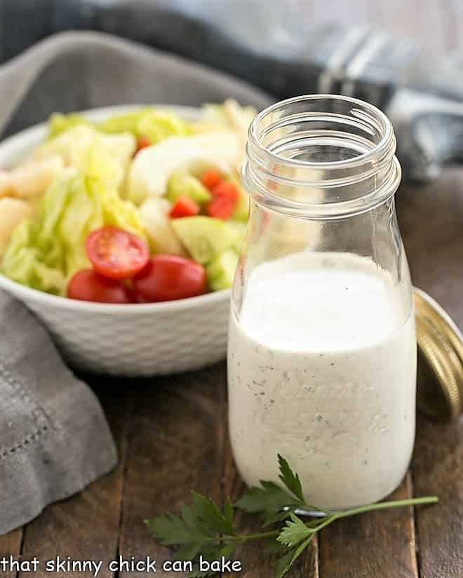 The Ultimate Ranch Dressing in a glass jar