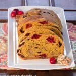 Cranberry Walnut Pumpkin Loaf