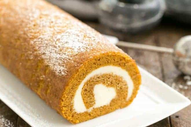 Old Fashioned Pumpkin Roll | With a cream cheese filling, this classic fall treat always gets rave reviews!