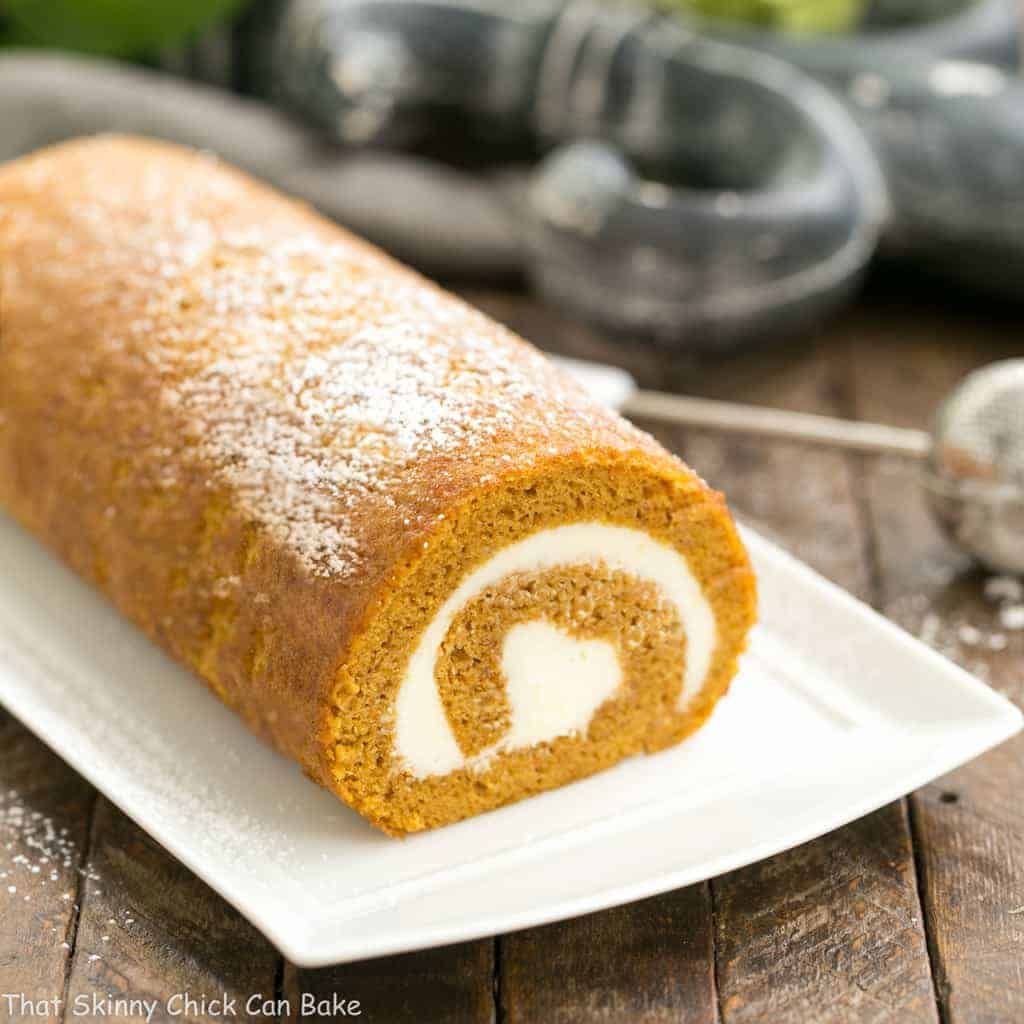 Old Fashioned Pumpkin Roll With Cream Cheese Filling Cake