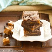 Layered Caramel Brownies - A gooey, retro brownie recipe that's stood the test of time