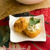Goat-Cheese Mini Puffs | That Skinny Chick Can Bake