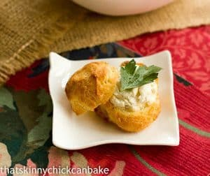 Goat-Cheese Mini Puffs   That Skinny Chick Can Bake