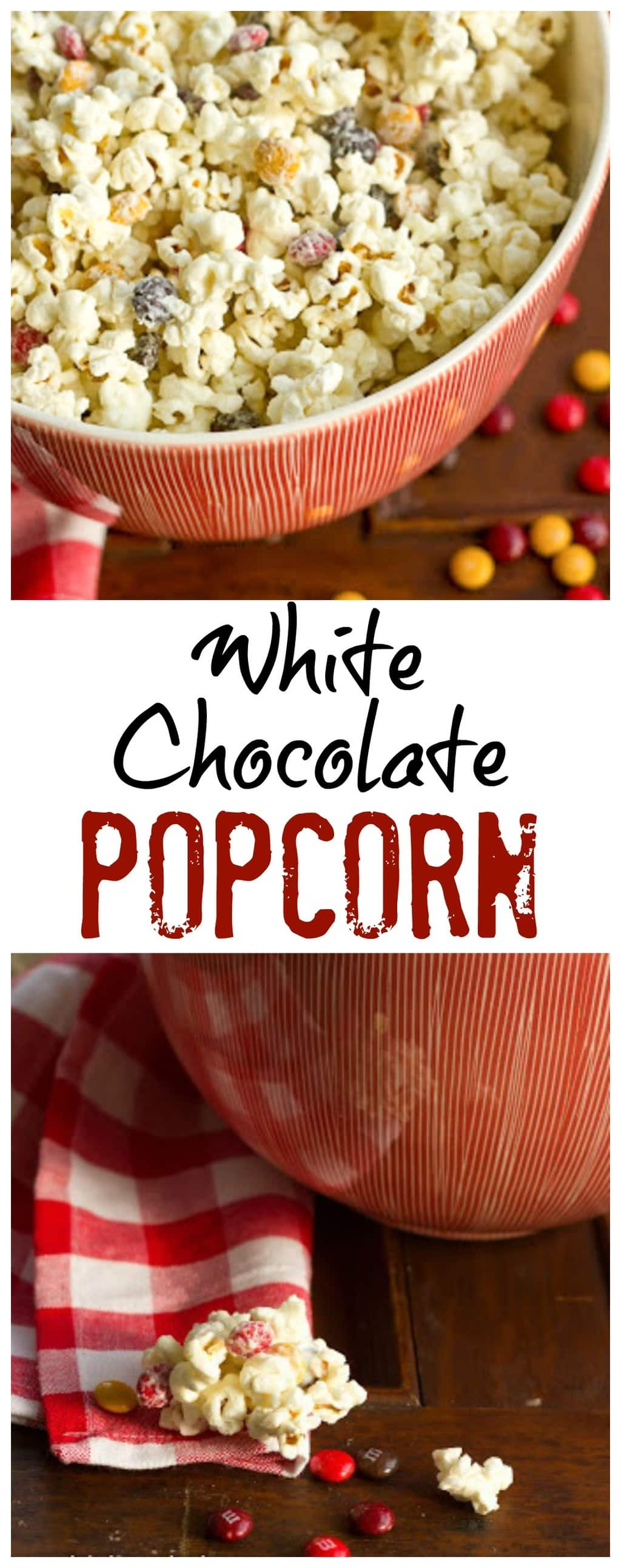 Holiday White Chocolate Popcorn | Perfect for gifting and/or snacking!