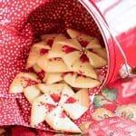 Poinsettia Cookies   Festive holiday sugar cookies!