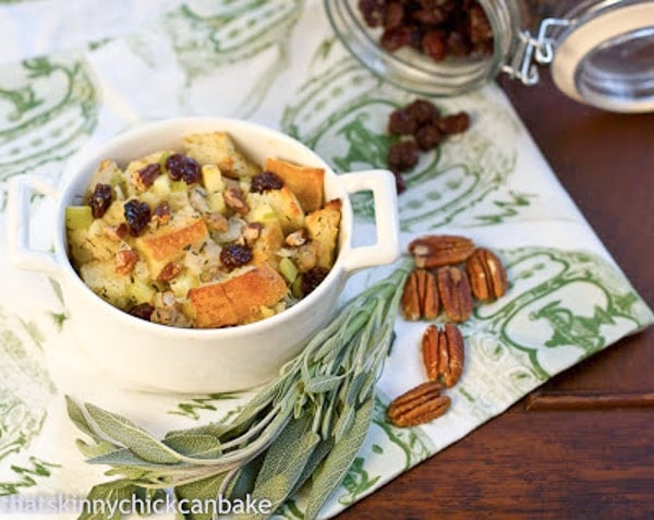 Sausage Dried Cherry Pecan Stuffing | That Skinny Chick ...