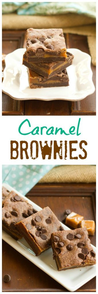 Caramel Brownies - A decadent treat for you chocolate-caramel lovers!