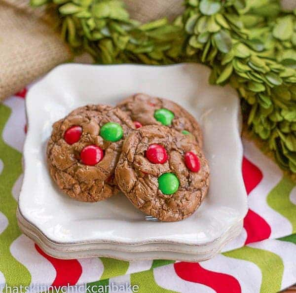 Holiday Truffle Cookies on a white plate