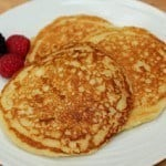 Buttermilk Pancakes with Blueberry Maple Syrup