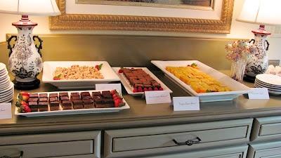 Meyer Lemon Bars on a dessert buffet for a bridal shower