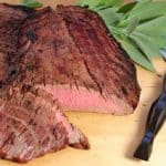 Red Wine and Soy Marinated Flank Steak with Grilled Potato Packets~