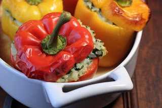 Dorie Greenspan's Rice Packed Peppers
