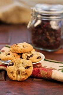 Cherry Chocolate Chunk Cookies~ - That Skinny Chick Can Bake