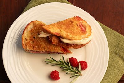 Mozzarella, Raspberry and Brown Sugar Grilled Cheese