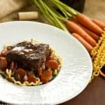 Beef Cheek Daube with Carrots and Pasta #FrenchFridayswithDorie