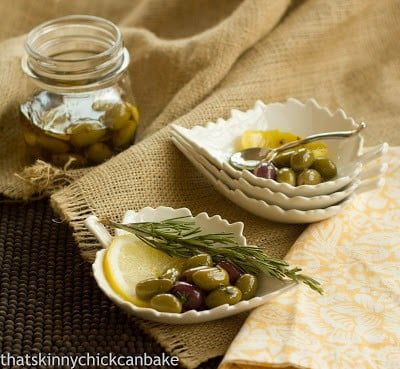 Herbed Olives | That Skinny Chick Can Bake