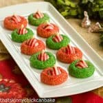 Candy Cane Blossoms Cookies