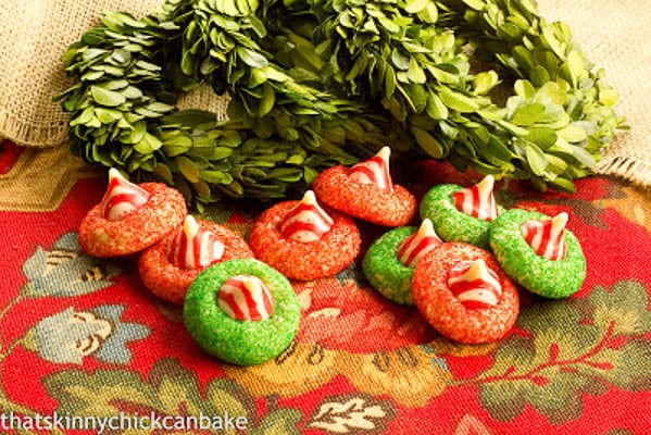 Candy Cane Blossoms | A tasty, festive holiday thumbprint cookie