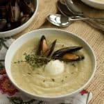 Creamy Cauliflower Soup Sans Cream #FrenchFridayswithDorie