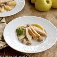 Chicken, Apples, and Cream à la Normande