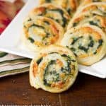 Muenster and Spinach Pinwheels #SundaySupper