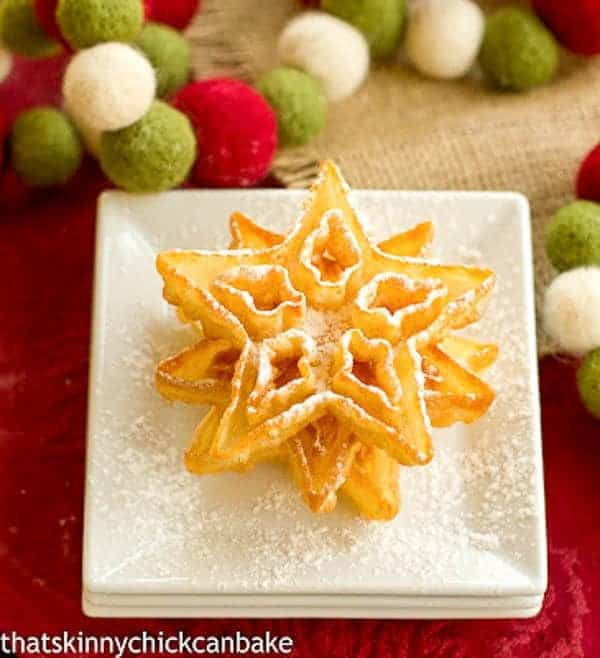 How to Make Rosettes | A light, exquisite crisp deep fried holiday cookie dusted in powdered sugar